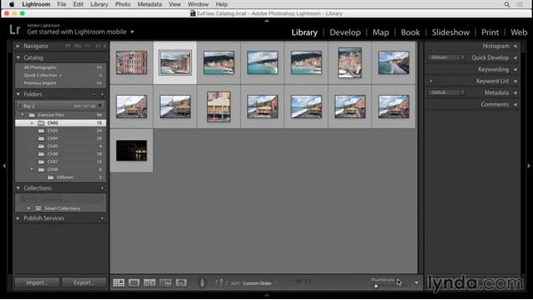 Library module overview: Up and Running with Lightroom 6 and Lightroom CC