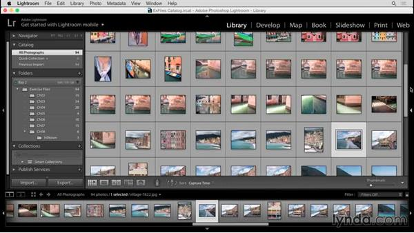 Customizing the Library module: Up and Running with Lightroom 6 and Lightroom CC