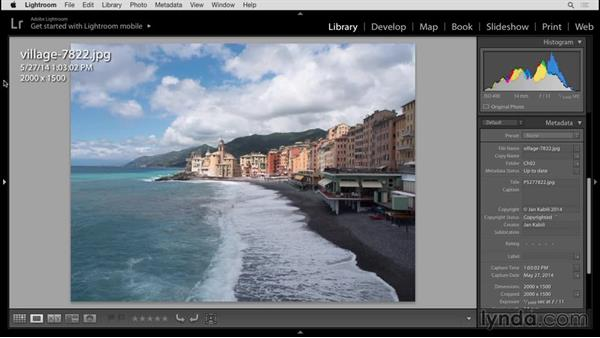 Displaying photo information: Up and Running with Lightroom 6 and Lightroom CC