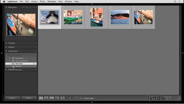 Organizing collections: Up and Running with Lightroom 6 and Lightroom CC
