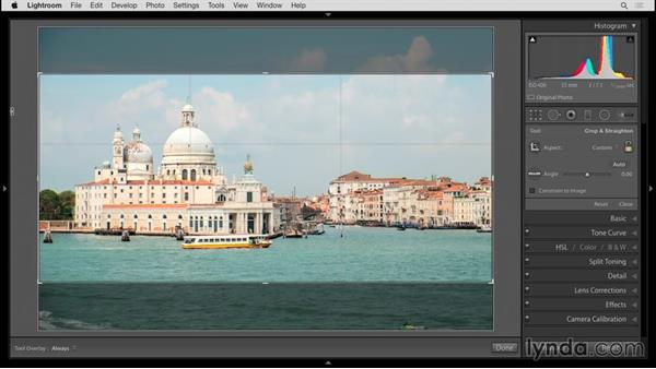 Cropping: Up and Running with Lightroom 6 and Lightroom CC