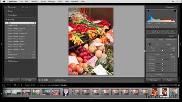 Setting white balance: Up and Running with Lightroom 6 and Lightroom CC