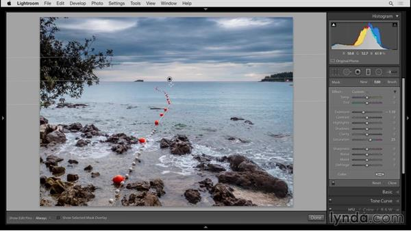 Applying graduated filters: Up and Running with Lightroom 6 and Lightroom CC