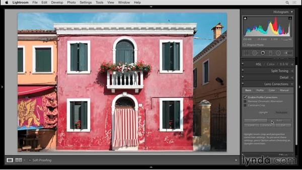 Fixing perspective with Upright: Up and Running with Lightroom 6 and Lightroom CC
