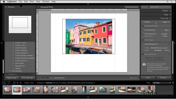 Desktop printing: Up and Running with Lightroom 6 and Lightroom CC