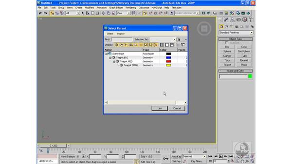 Linking and unlinking: 3ds Max 2009 Beyond the Basics