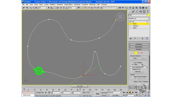 Animating a path: 3ds Max 2009 Beyond the Basics
