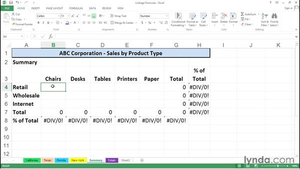 Using formulas to calculate values across worksheets and workbooks: Excel Tips Weekly
