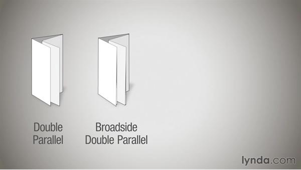 Parallel folds: Print Production Essentials: Folding