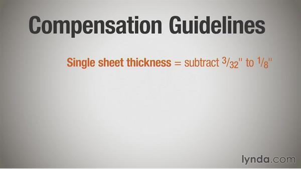 What is folding compensation?: Print Production Essentials: Folding