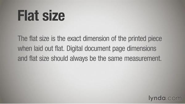 Flat size vs. finished size: Print Production Essentials: Folding