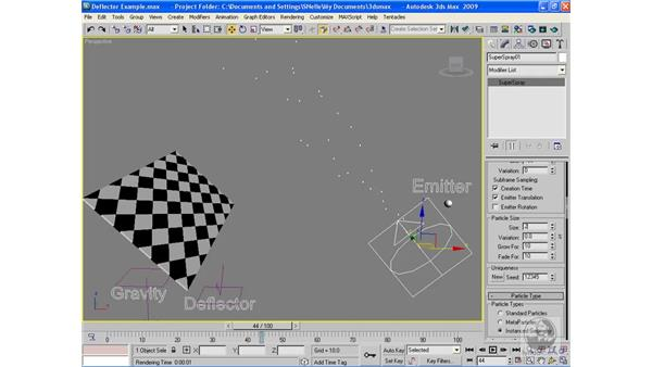Using Deflectors: 3ds Max 2009 Beyond the Basics