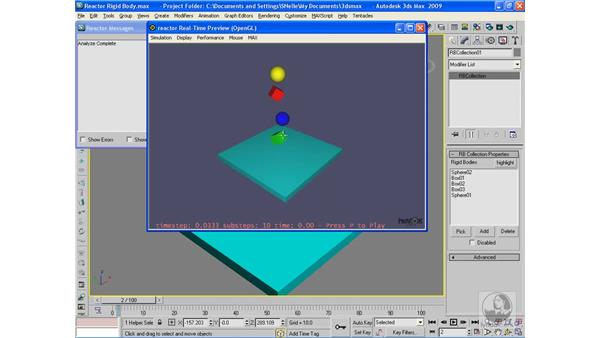 Reactor: Rigid body simulations: 3ds Max 2009 Beyond the Basics