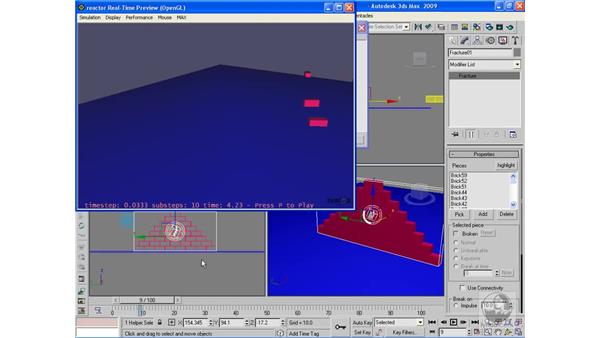Reactor: Fracture simulations: 3ds Max 2009 Beyond the Basics