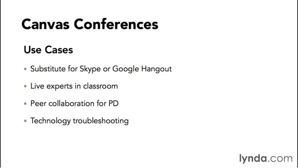 Understanding conferences: Up and Running with Canvas 2015