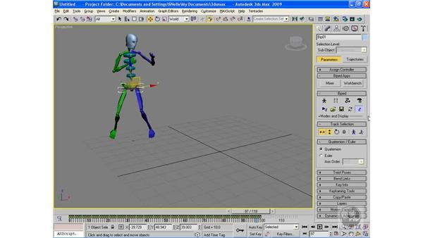 Working with motion capture files: 3ds Max 2009 Beyond the Basics