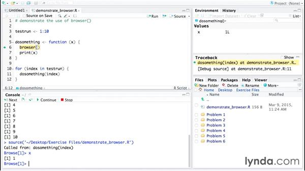 Debugging with browser(): Code Clinic: R