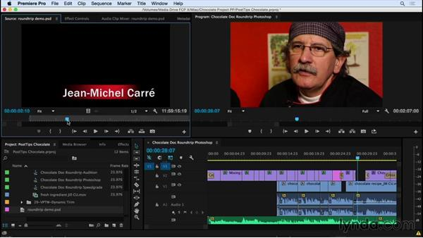 Round-tripping between Premiere Pro and Photoshop: Video Post Tips Weekly