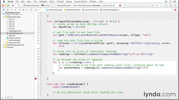 Processing the text files: Code Clinic: Swift