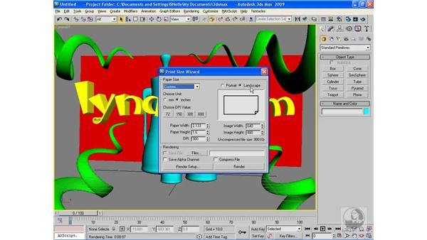 The Print Size wizard: 3ds Max 2009 Beyond the Basics