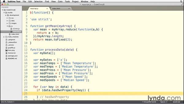 Parsing the data: Code Clinic: JavaScript