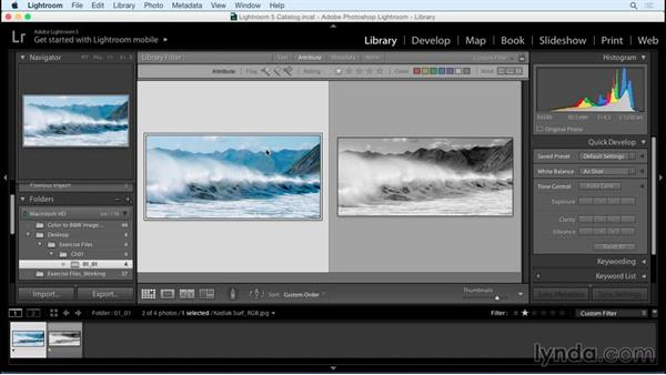 From color to black-and-white: a workflow overview: Creating Black-and-White Landscape Photos with Lightroom