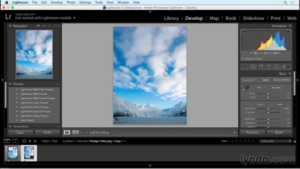 Evaluating and measuring brightness and contrast: Creating Black-and-White Landscape Photos with Lightroom