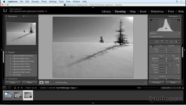 Challenge solution: Creating Black-and-White Landscape Photos with Lightroom