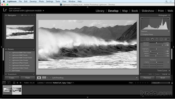 Fine-tuning the contrast: Creating Black-and-White Landscape Photos with Lightroom