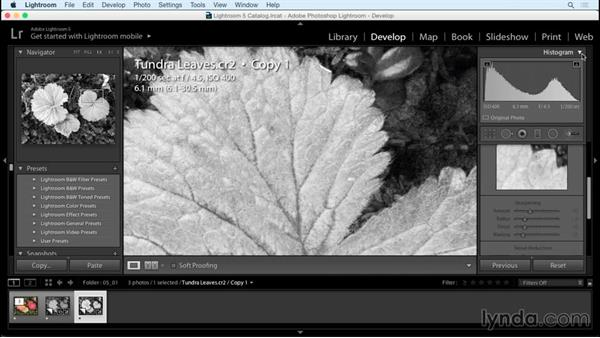 Enhancing the photo using the Clarity slider: Creating Black-and-White Landscape Photos with Lightroom