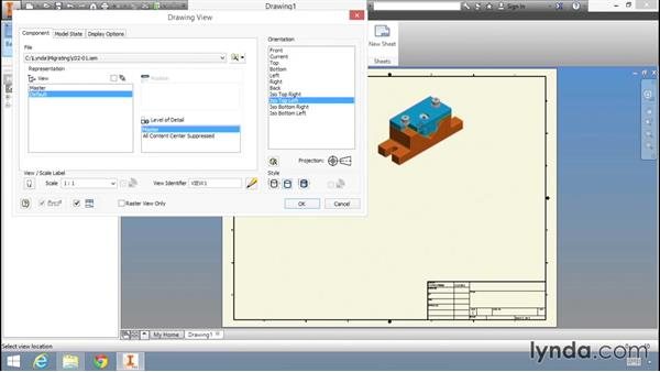 Placing drawing views using Inventor: Migrating from AutoCAD to Inventor