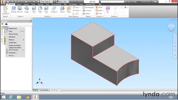 Changing the appearance of a model: Migrating from AutoCAD to Inventor