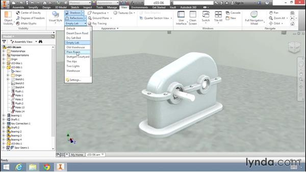 Creating a rendering: Migrating from AutoCAD to Inventor