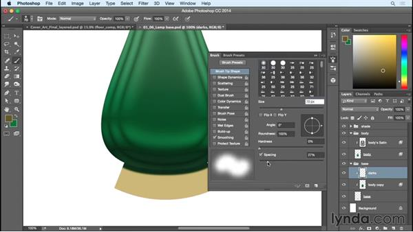 Creating the base of the lamp: Creating Commercial Illustrations
