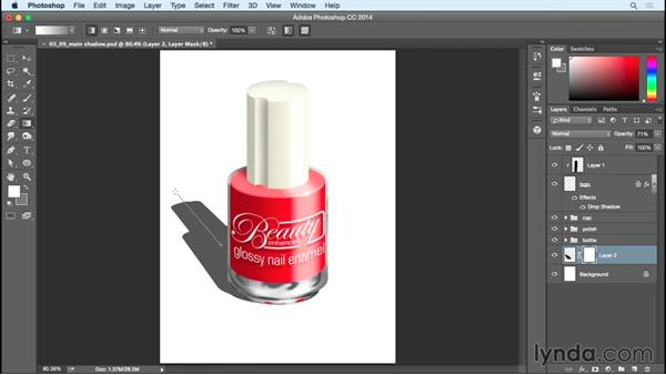 Adding the main shadow and final touches: Creating Commercial Illustrations