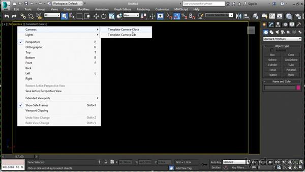 Choosing a startup template: 3ds Max 2016 New Features