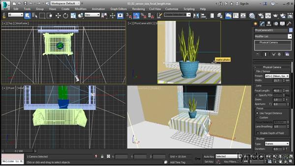 Setting sensor size and focal length: 3ds Max 2016 New Features