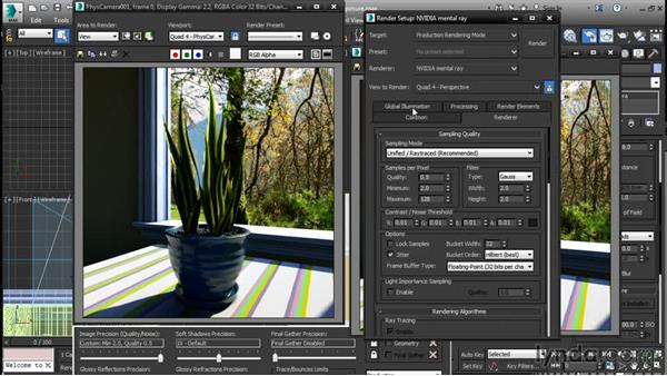 Setting manual exposure: 3ds Max 2016 New Features