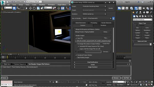 Rendering a sequence: 3ds Max 2016 New Features