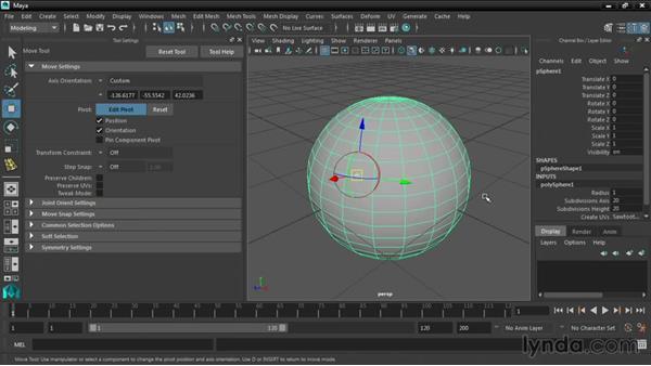 Using the new Transform tools: Maya 2016 New Features