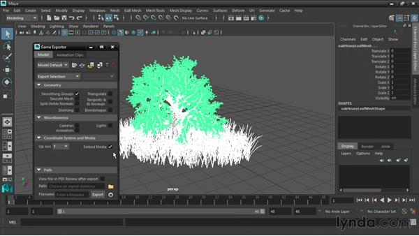 Exporting models with the Game Exporter: Maya 2016 New Features