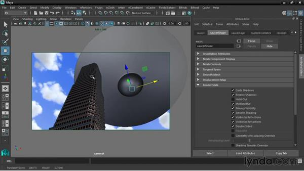 Matting objects with Viewport 2.0 Hold Out: Maya 2016 New Features