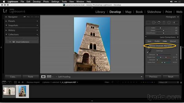 Correcting lens distortion in Lightroom: Using and Creating Lens Profiles in Adobe CC Applications
