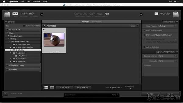 Accessing lens profiles: Using and Creating Lens Profiles in Adobe CC Applications