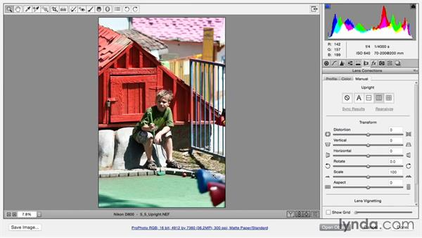 Fixing perspective with Upright: Using and Creating Lens Profiles in Adobe CC Applications