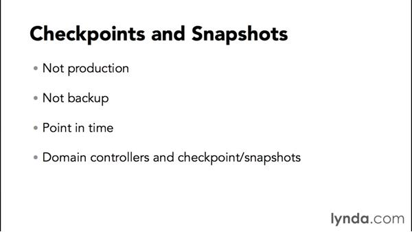 Working with checkpoints and snapshots: SharePoint 2013 Installing and Configuring a Test Environment