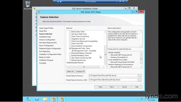 Installing SQL Server 2012: SharePoint 2013 Installing and Configuring a Test Environment