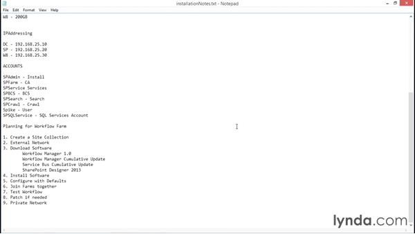 Planning the workflow farm: SharePoint 2013 Installing and Configuring a Test Environment