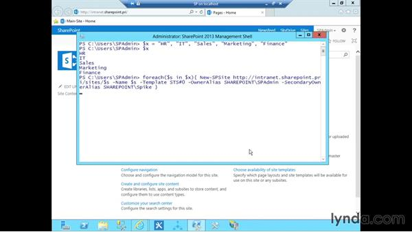 Creating an intranet with PowerShell: SharePoint 2013 Installing and Configuring a Test Environment