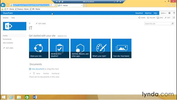Validating the test intranet: SharePoint 2013 Installing and Configuring a Test Environment